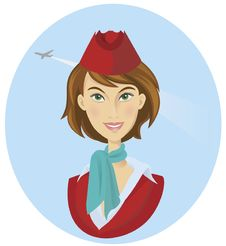 Free Beautiful Stewardess In Uniform Stock Image - 22476241