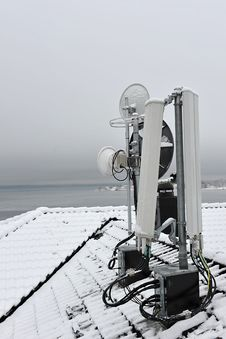 Mobile Communication Antenna Stock Photo