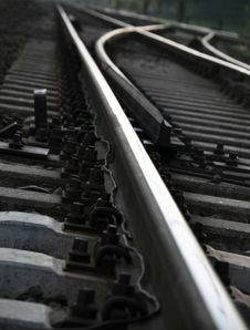 Free Train Tracks Crossroad Stock Image - 22477791