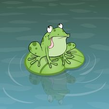 Free Frog Illustration Royalty Free Stock Image - 22478536
