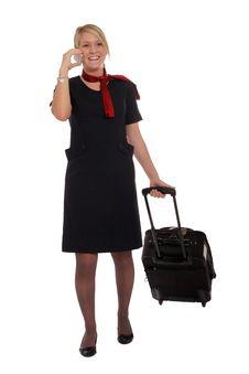 Free Flight Attendant Going To Work Stock Photos - 22479183
