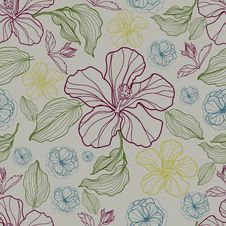 Free Vector Seamless Floral Pattern Stock Images - 22481194