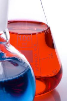 Free Blue And Red Flasks Stock Photo - 22482300