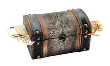 Free Beautiful Handmade Jewelry Box With Money Stock Images - 22483104