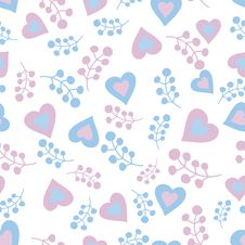 Free Romantic Seamless Pattern Stock Photography - 22484052