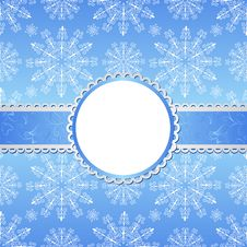 Free Christmas Background With Snowflakes. Stock Images - 22485064
