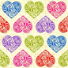 Free Hearts Seamless Pattern Royalty Free Stock Image - 22485146