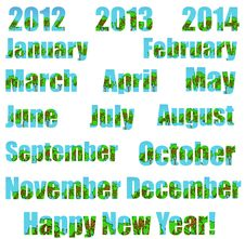 Free Happy New Environmental Year! (Transparent Bg) Stock Photography - 22485962