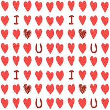 Free Seamless Valentines Background Royalty Free Stock Image - 22488436