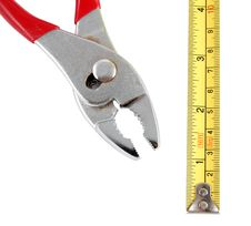 Free Pliers And Tape Measure Stock Photography - 22489832
