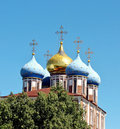 Free Golden Domes Of The Ryazan Kremlin Royalty Free Stock Images - 22497619