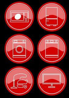 Free Icons Royalty Free Stock Image - 22490356