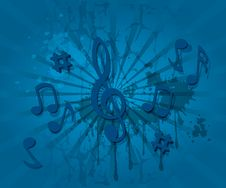 Free Music Notes Theme Background Royalty Free Stock Photo - 22493225