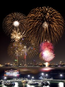 Free Pataya City Firework Festival Stock Photo - 22494610