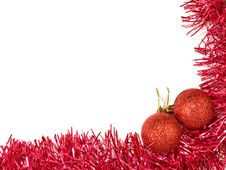 Free Red Christmas Balls And Red Decoration. Stock Images - 22496034