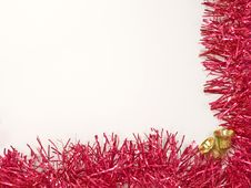 Free Golden Christmas Bells And Red Decoration. Stock Image - 22496041