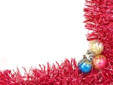 Free Multicolored Christmas Balls And Red Decoration. Royalty Free Stock Images - 22496059