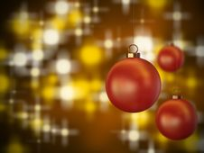Free Christmas Spheres 2 Royalty Free Stock Image - 22497906