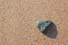 Free Stone In The Shape Of A Heart Stock Photos - 22498713