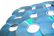 Free Many Cd S On White Royalty Free Stock Photos - 22499118