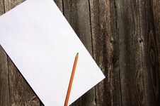Free White Paper,pencil And Wood Royalty Free Stock Image - 22499966