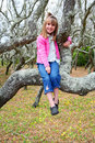 Free Girl In A Mangrove Tree Stock Photo - 2252320