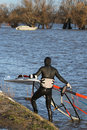 Free Windsurfer At The Rhine Royalty Free Stock Images - 2259359
