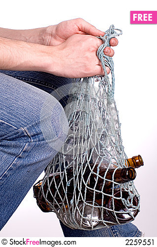 Free The Man With Empty Bottles Stock Image - 2259551