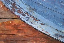 Weathered Wooden Boat Royalty Free Stock Image