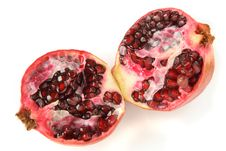 Free Two Halfs Of Ruby Pomegranate Royalty Free Stock Image - 2251516