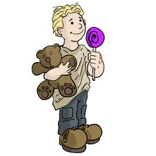 Free Boy With Teddy Bear Royalty Free Stock Photos - 2252128