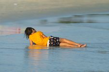 Free Girl On The Beach Stock Photos - 2252653