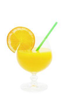 Orange Cocktail (isolated) Stock Photos