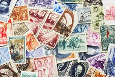 Free Soviet Postal Stamps Royalty Free Stock Photos - 2253168