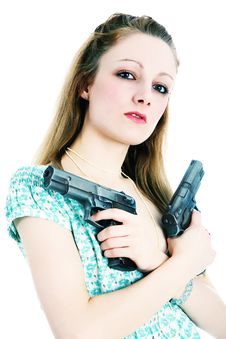 Free These Are My Guns Royalty Free Stock Image - 2253596