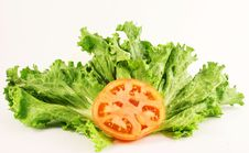 Free Lettuce And Tomatoe Royalty Free Stock Photography - 2254257