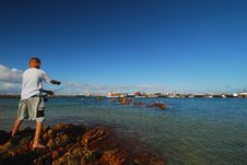 Free Harbour Fishing Royalty Free Stock Image - 2254356