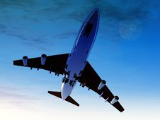 Free Plane In Flight 2 Royalty Free Stock Images - 2254629