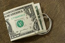 Last Dollar Royalty Free Stock Photography