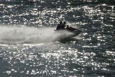 Free Silhouetted Jet Ski Stock Photo - 2256340