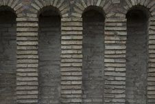Free Four Archs In Old Wall Royalty Free Stock Photography - 2257237