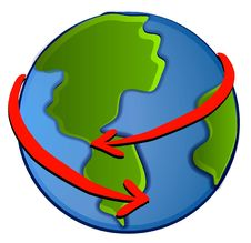 Planet Earth Recycling Clipart Stock Photo