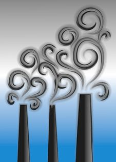 Free Smoke Stacks Pollution Clipart Royalty Free Stock Photos - 2257988