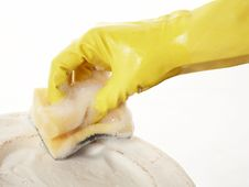 Free Hand In Rubber Glove 11 Royalty Free Stock Photo - 2258545