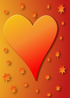 Free Red And Gold Heart Royalty Free Stock Photos - 2258768