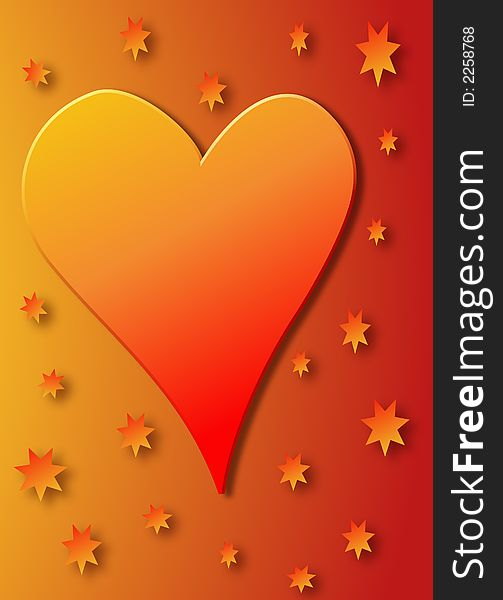 Red and Gold Heart