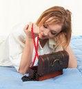 Free Woman   Jewelry Box Royalty Free Stock Photos - 22506848