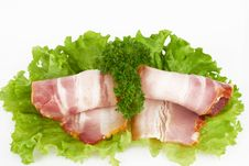 Free Sliced Bacon Royalty Free Stock Photography - 22503217