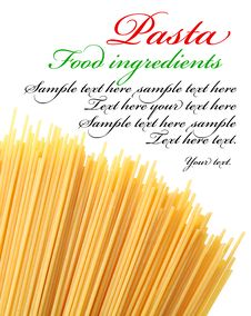 Free Italian Pasta On A White Background. Royalty Free Stock Images - 22506719