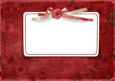 Free Red Valentine S Day Background With Card Royalty Free Stock Photos - 22507908